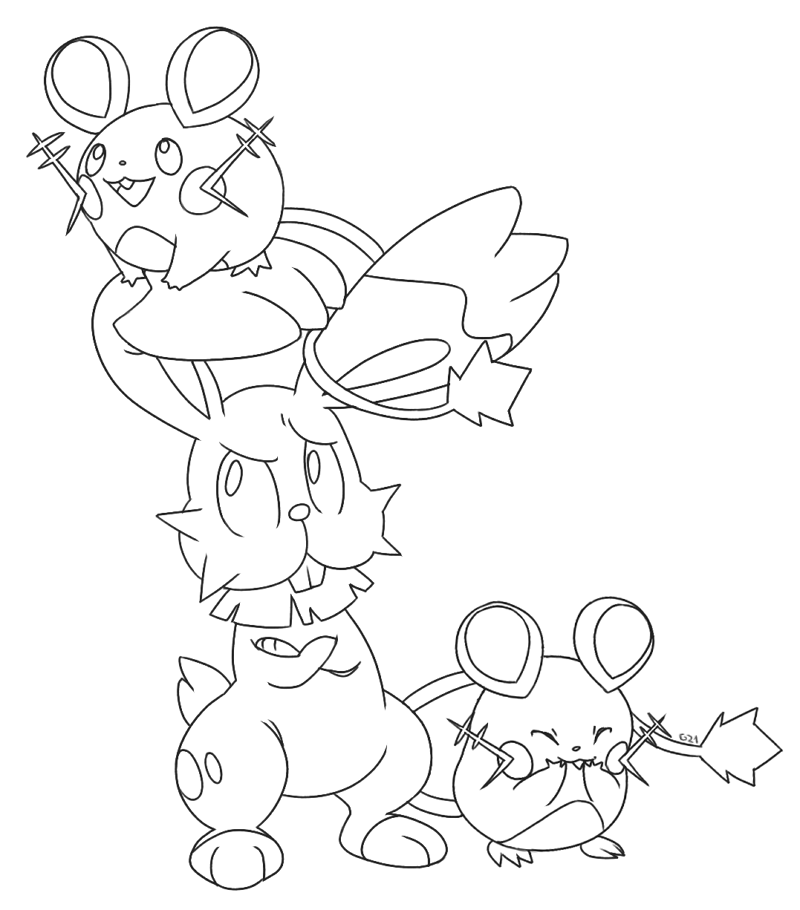 Dedenne Coloring Pages Coloring