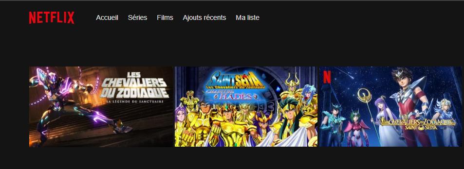 Saint Seiya sur Netflix