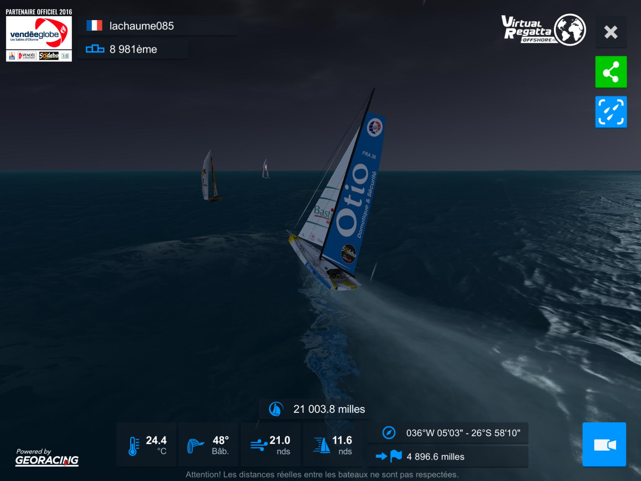 [Vendée Globe Virtuel 2016] La course sur VR 1483345498094048500