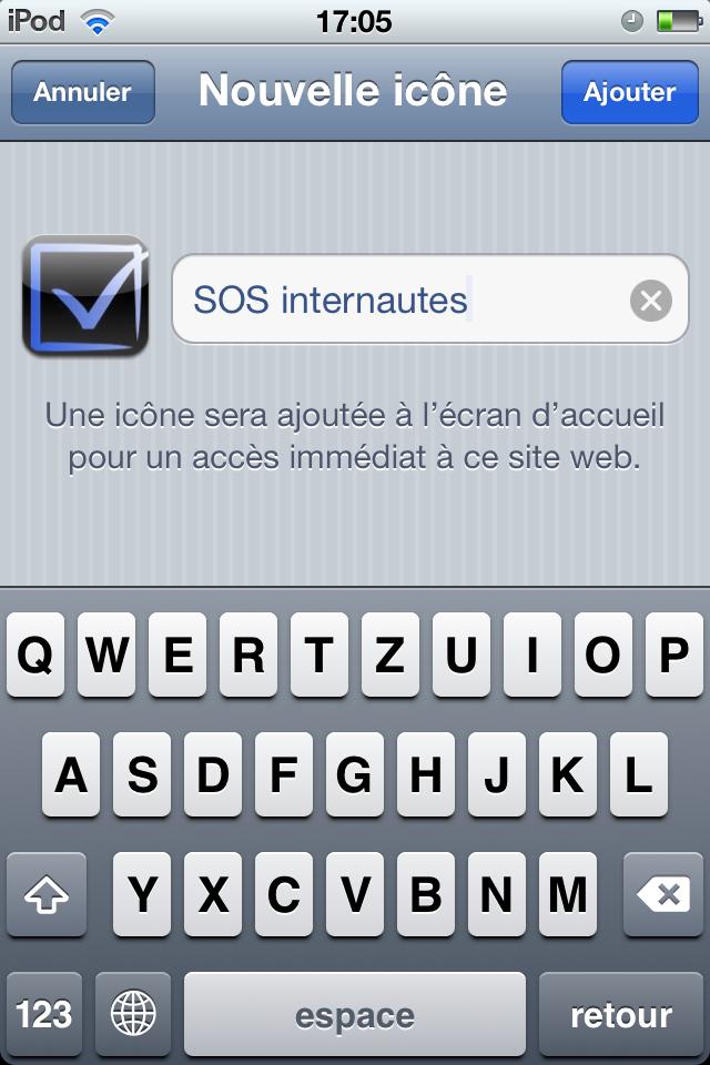 Ajouter un site au menu principal IOS 1334335197098590400