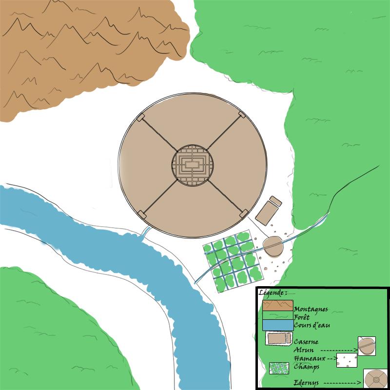 Carte d'Edernys et ses environs / Drapeau d'Edernys 1392205758024111200