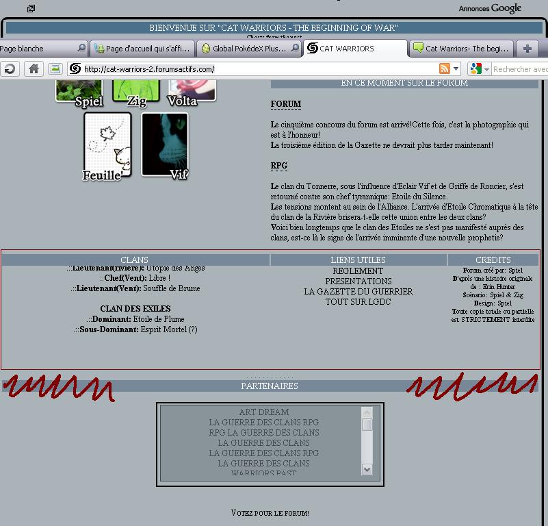 Page d'accueil qui s'affiche mal 1295700839013038100