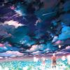 paysage étoilé