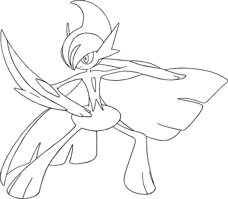 gallade coloring pages - photo#2