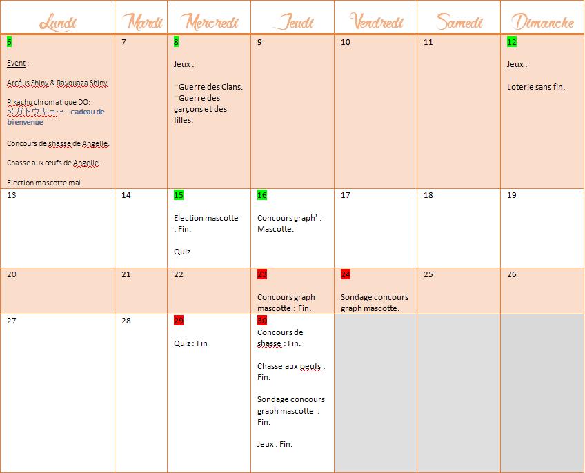 Calendrier activités du mois d'avril 1428336040088727300