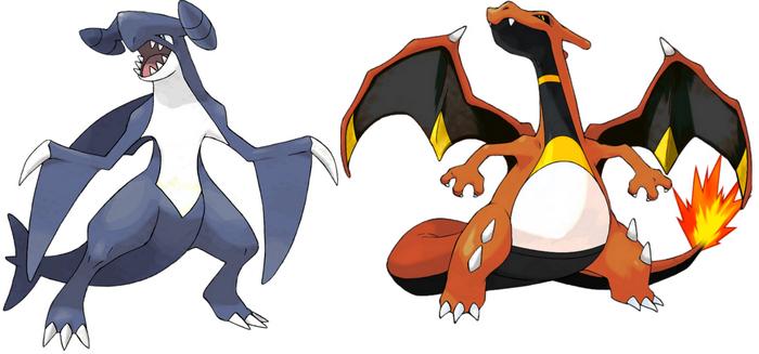 carchacrock 1re gnration vs dracaufeu 4g - Pokemon Carchacrok